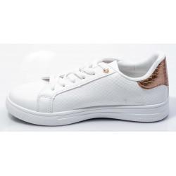 Γυναικεία Sneakers BOKASHOES Άσπρα 003Ι208