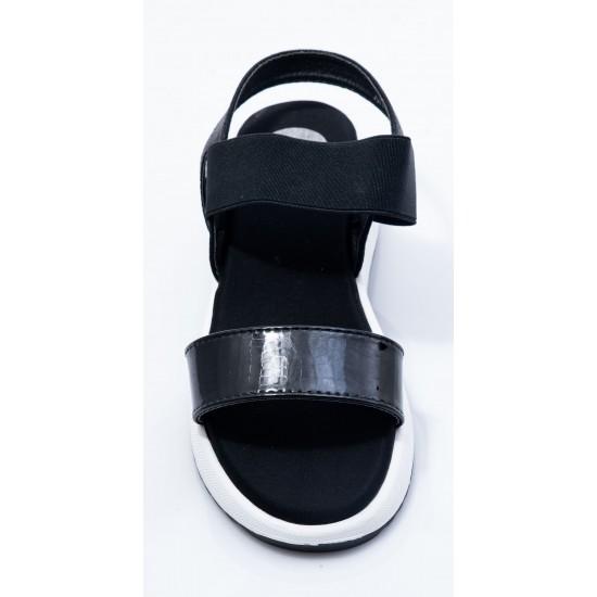 Γυναικεία Flatforms POPS Μαύρα 008Κ218