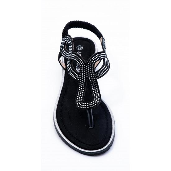 Γυναικεία Flat BOKASHOES Μαύρα 008Κ219