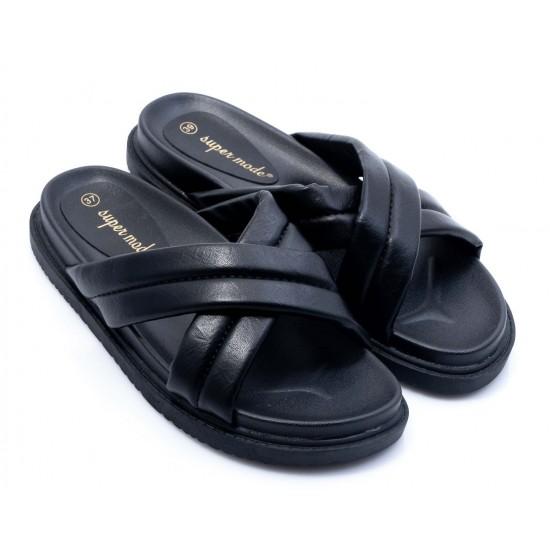 Γυναικεία Flat BOKASHOES Μαύρα 008Κ224