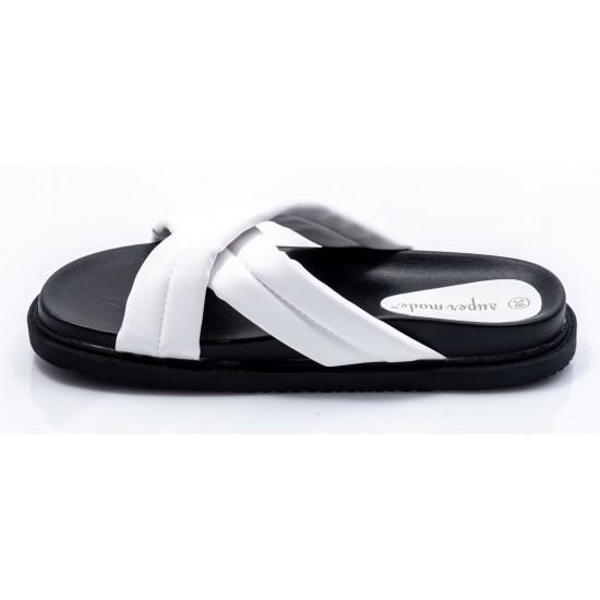 Γυναικεία Flat BOKASHOES Άσπρα 008Κ224