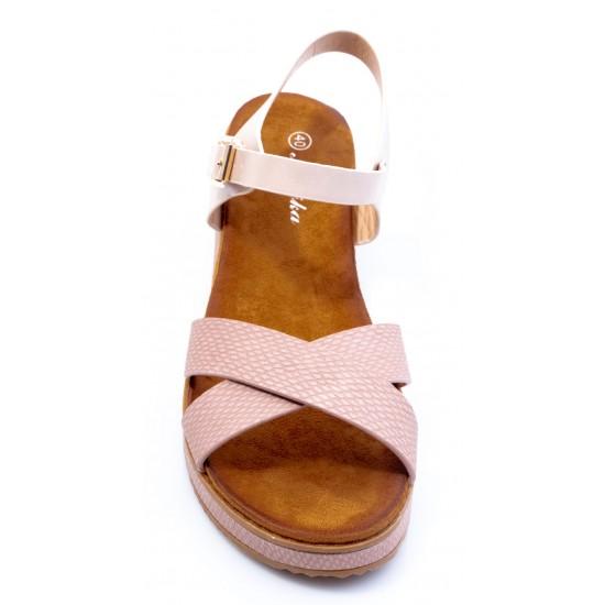 Γυναικεία Σανδάλια BOKASHOES Ροζ 008Κ226