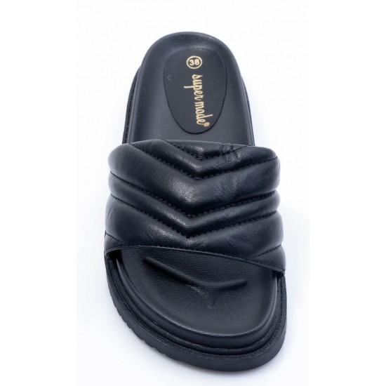 Γυναικεία Flat BOKASHOES Μαύρα 008Κ229