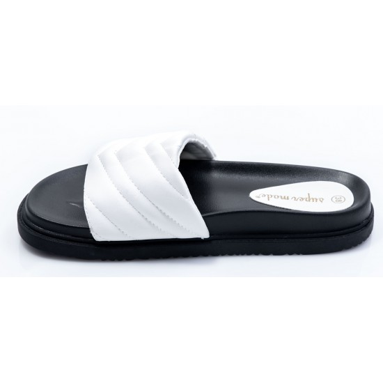 Γυναικεία Flat BOKASHOES Άσπρα 008Κ229