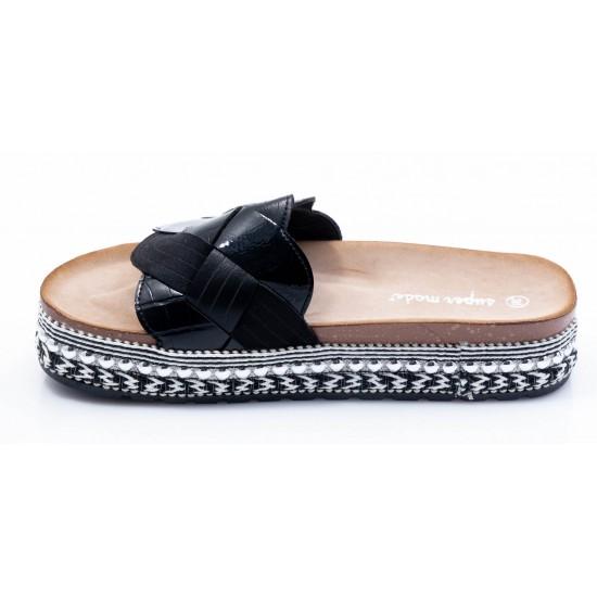 Γυναικεία Flatforms BOKASHOES Μαύρα 008Κ230