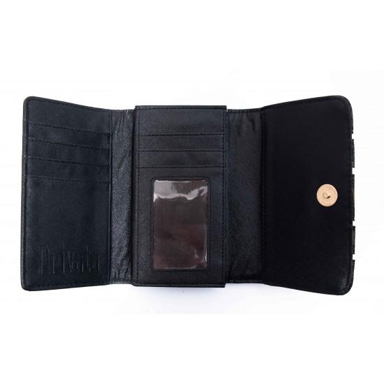 Γυναικείο Πορτοφόλι PRIVATA Μαύρο 016Ζ652