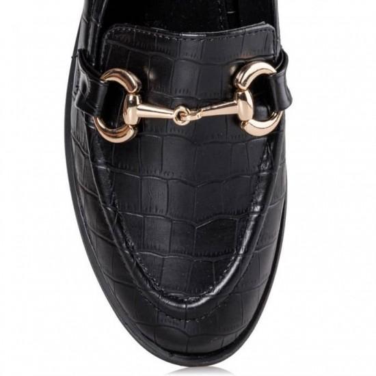 Γυναικεία Loafers ENVIE Μαύρα V84-12204-34