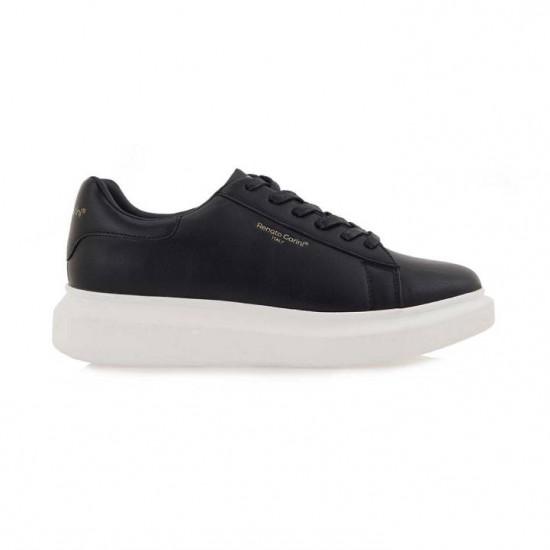 Ανδρικά Sneakers RENATO GARINI Μαύρα/Άσπρα N57007243001