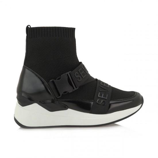 Γυναικεία Sneakers SEVEN Μαύρα J319R8753001